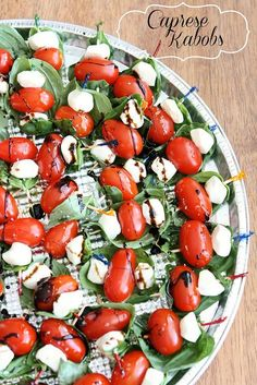 Caprese Kabobs!  I've made these a ton of times ...  it's an appetizer everyone loves!