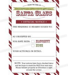 Santa Warning