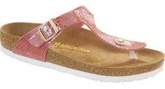 Birkenstock Gizeh shiny snake rose | new collection 2016 / nieuwe collectie 2016