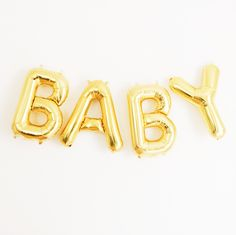 Baby Mylar Banner - this adorable gold banner is perfect for a baby shower and we love that it's reusable! #PNshop