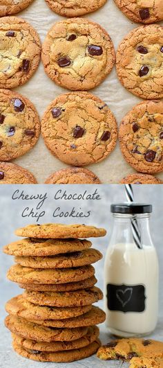 My Favourite Chewy Chocolate Chip Cookies - Domestic Gothess Easy Cookie Recipes, Best Dessert Recipes, Fun Desserts, Sweet Recipes, Baking Recipes, Dishes Recipes, Cake Recipes, Biscuit Recipe, Cookies Et Biscuits