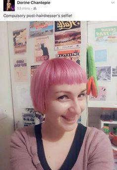 Another happy client at Gōndi #organic #colour #pink #Cardiff #Lifestyle #Salon #Wales #Fashion #cardiffsalon #walesslaon #thesalon #bestsalon #guest #happyclient #gondi #rhiwbina #village #vegan #onlyvegansalon #smiles #happyguest #hair #beauty
