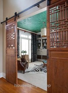 cool Asian Barn doors Atlanta Chic Home Office Atlanta –  Jennifer Reynolds Inte…  http://www.housedesigns.top/2017/07/16/cool-asian-barn-doors-atlanta-chic-home-office-atlanta-jennifer-reynolds-inte/