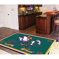 Notre Dame Fighting Irish NCAA Floor Rug (4'x6') Fighting Irish Logo