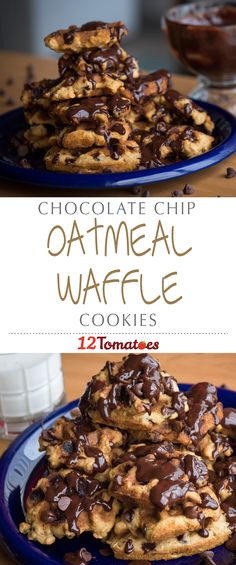 Chocolate Chip Oatmeal Waffle Cookies | This not only gets the cookies into our bellies sooner, but it makes for a fast and fun recipe to whip up with little ones.