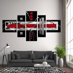 The Difference Between Modern Interiors And Traditional Interior Home Design Grey And Red Living Room, Grey Bedroom With Pop Of Color, Red Living Room Decor, Cute Dorm Rooms, Cool Rooms, Decor Interior Design, Interior Decorating, Living Room Designs, Bedroom Decor