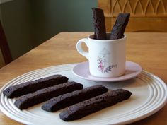 Gluten Free Low Carb Chocolate Biscotti - also makes great crust for pies/cheesecakes