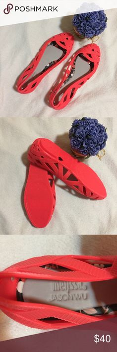 Melissa + Jason Wu orange ballet flat jellies Melissa + Jason Wu orange ballet flat jellies  Brand new Melissa Shoes Flats & Loafers