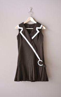 vintage 1960s Brownie Girl mini dress     #vintagedress #mod #1960s