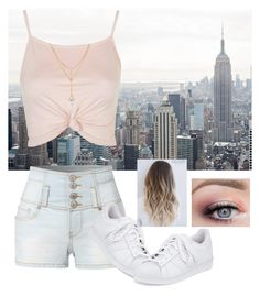 """A Day Out in the Town (#63)"" by nellygirl110 on Polyvore featuring LE3NO, Topshop and adidas"