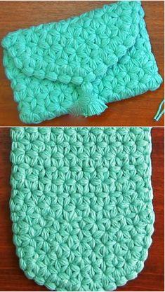 jasmine stitch clutch