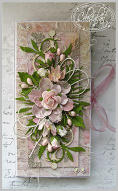 32 Ideas for birthday box card envelopes Shabby Chic Wedding Decor, Shabby Chic Cards, Flower Cards, Paper Flowers, Birthday Greetings For Kids, Anna Griffin Cards, Deco Floral, Paper Crafts For Kids, Card Tags