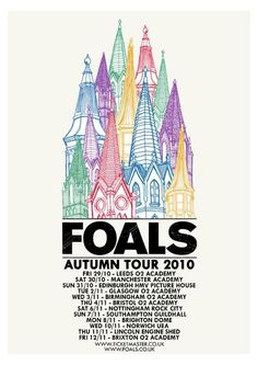 FOALS autumn tour gig poster design