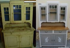 Kattintás a bezáráshoz Retro Furniture Makeover, Furniture Decor, Hoosier Cabinet, Hand Painted Furniture, Painting Cabinets, Vintage Decor, Home Projects, Restaurant, Home Decor