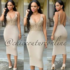 This nude dress is from Amazing! Tight Dresses, Sexy Dresses, Cute Dresses, Casual Dresses, Fashion Dresses, Classy Outfits, Sexy Outfits, Dress Outfits, Girl Outfits