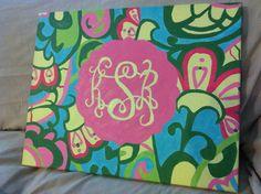 monogram canvas painting