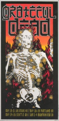 Grateful Dead. Portland Meadows 1995  (Set list Attached to Pin)
