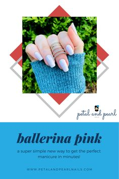 Nail Polish Stickers, Pink Nail Polish, Nail Polish Strips, Manicure At Home, Diy Manicure, Fall Nail Trends, Pearl Nails, Satin Ribbons, Pretty Ballerinas