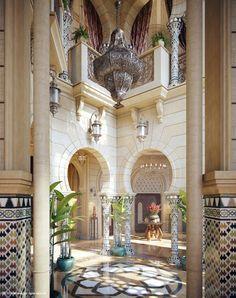 Oriental Spaces by Muhammad Taher, via Behance
