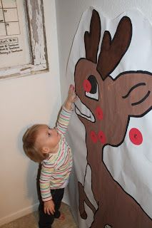 Christmas Game: Pin the Nose on Rudolph!