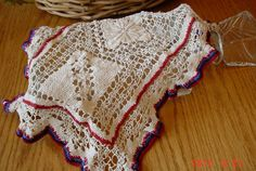Red White and Blue Vintage Doily by MellyMcBlueTreasures on Etsy