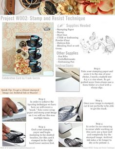 Stamp and Resist Technique