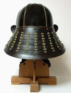 Samurai Suji Kabuto with Matching Menpo [Helmet]