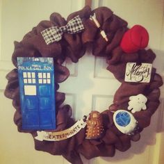 Doctor who wreath made by me...