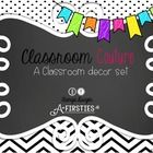 Crisp, clean, beautiful,,,black and white decor for back to school...