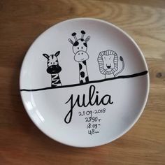 animals giraffe lion zebra want . animals giraffe lion zebra want . animals – sign - Name stamps personalized stamp bookplate stamp ex libris Pottery Painting, Ceramic Painting, Diy Baby Gifts, Baby Presents, How To Start Knitting, Kids And Parenting, Hand Lettering, Giraffe, Diy And Crafts