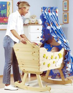 woodworking diy+woodworking diy projects+woodworking diy beginner+woodworking diy gifts+woodworking diy plans+woodworking diy tools+woodworking diy ideas+woodworking diy how to make+Anika's DIY Life Baby Cradle Plans, Baby Cradle Wooden, Wood Bassinet, Baby Bassinet, Baby Crib Diy, Baby Cribs, Woodworking For Kids, Woodworking Patterns, Woodworking Videos