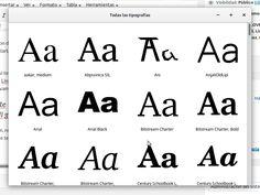 Fuentes tipográficas, cómo se instalan en Linux Ubuntu/Mint