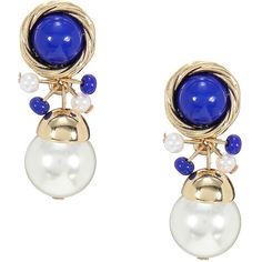 Yoins Muilticolor  Pearl Drop Earrings ($4.13) ❤ liked on Polyvore featuring jewelry, earrings, black, polish jewelry, pearl jewelry, pearl earrings, pearl jewellery and white pearl earrings