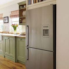 Painted kitchen | Step inside this traditional muted green kitchen | housetohome.co.uk | Mobile