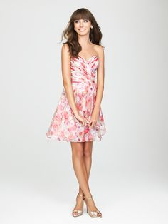 "Allure Bridesmaids  STYLE: 1435 This season introduces the ""In Bloom"" capsule collection from Allure Bridesmaids. The subtle floral prints are perfect for mixing and matching with your bridal party!"
