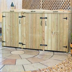 Hide away your unsightly wheelie bins with this superior Triple Wheelie Bin Store. Stylish looking against any wall, this bin store. Box Storage Unit, Storage Bins, Storage Chest, Storage Ideas, Storage Systems, Triple Wheelie Bin Storage, Triple Bin Store, Outdoor Storage Bin, Garden Waste Bags