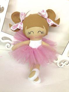 Handmade Ballerina Doll Fabric Dolls Soft Dolls by SewManyPretties, $42.00