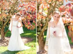 Love the pose on the right for a bridal portrait.