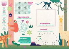 Bristol-based animation studio Aardman has designed a new kid's menu for Latin American restaurant chain Las Iguanas. Magazine Layout Design, Book Design Layout, Menu Design, Magazine Layouts, Cool Poster Designs, Magazin Design, Kids Menu, Magazines For Kids, Illustrations And Posters