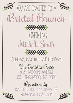 Bridal Brunch or Shower Invitation
