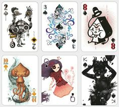 Eclectic Playing Cards Created by 52 Worldwide Artists