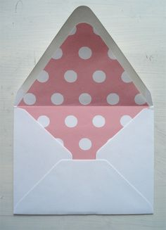 polka dot scrapbook paper used to make envelope liners