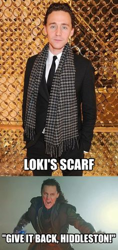 Fun fact: Marvel mailed the Loki scarf from Thor 1 to Tom Hiddleston for his birthday. Pretty cool.