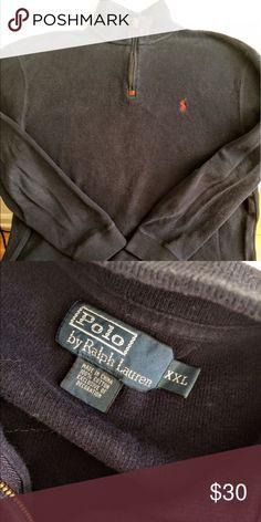 Ralph Lauren half-zip Ralph Lauren classic half-zip pullover sweater in Sz XXL.  Great vintage condition with very light wear. Dark navy. Ralph Lauren Sweaters Zip Up