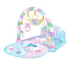 Baby Play Mat Kids Rug Educational Puzzle Carpet With Piano Keyboard Baby Play Mat Gym, Baby Gym, Baby Activity Gym, Gym Music, Baby Pillows, Music For Kids, Infant Activities, Baby Month By Month, Kids Playing