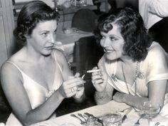 Martha Raye and Clara Bow 1937