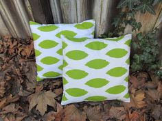 Green Ikat Pillow Cover 18 x 18 Inches Decorative by Pillomatic Green Pillows, Ikat Pillows, Make And Sell, Pillow Covers, Unique Jewelry, Handmade Gifts, Lime, Inspirational, Vintage