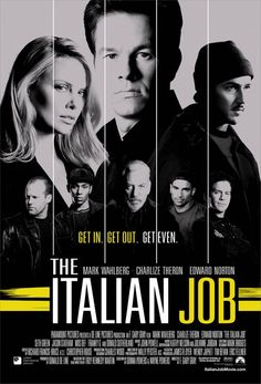 The Italian Job , starring Donald Sutherland, Mark Wahlberg, Edward Norton, Charlize Theron. After being betrayed and left for dead in Italy, Charlie Croker and his team plan an elaborate gold heist against their former ally. #Action #Crime #Thriller