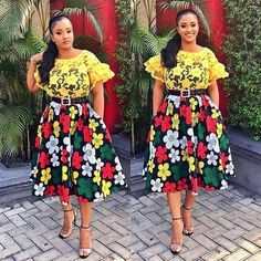 Chic Ankara dress styles can be worn to different occasion and you won't feel out of place. In fact chic Ankara dress styles coordinated with complementing accessories have a way of enhancing your overall look. African Dresses For Kids, African Fashion Ankara, Latest African Fashion Dresses, African Dresses For Women, African Print Dresses, African Print Fashion, African Attire, Ghanaian Fashion, Africa Fashion