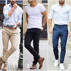 1,2 or 3? Pick your favorite casual. #modernmencasualstyle